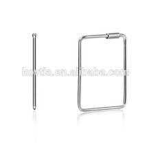 Оптовая 925 серебряных ювелирных изделий Элегантный стерлингового серебра 925 серьги прямоугольника