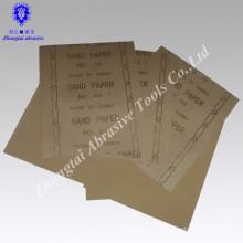 Precio barato de 230 * 280 mm y exportación de buena calidad al papel de lija de madera de EE. UU.