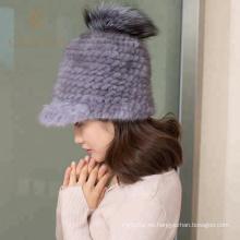 Precio barato para mujer sombrero de lana gris canada