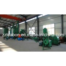 800-1000kg / H Línea de fabricación de pellets de aserrín de madera, línea de fabricación de pellets de madera residual con buen precio