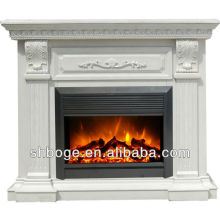 good artistic brown oak solid wood electric fireplace mantel
