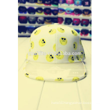 2016 newest korea fashion cap with see-through pvc flat brim snapback cap