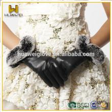 Gants en cuir 100% vrais en cuir féminin avec certificat BSCI