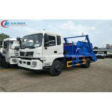 2019 nuevo Dongfeng CUMMINS 170hp camión cargador de basura de salto