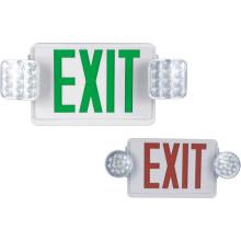 Аварийный огонь с табличкой Exit