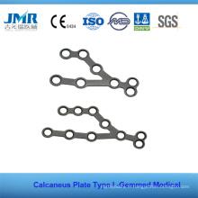 Traumatisme métallique Implant orthopédique Plaque de calcanéum
