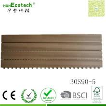 Panneau de sauna de tuile de plate-forme de composé de bois de polymère de 300 * 900mm WPC