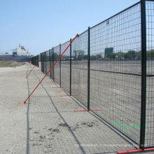 Le meilleur prix 6x10ft Canada couleur verte enduit clôture temporaire / panneaux de clôture métalliques portables (fabrication) ISO9001