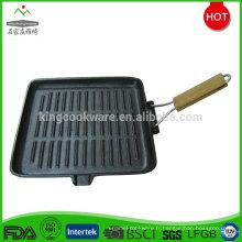 Plaque de cuisson grillade en fonte antiadhésive carrée