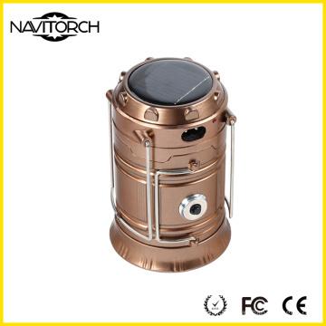 Lanterne de camping solaire double rechargeable double de manières lumineuses (NK-168)
