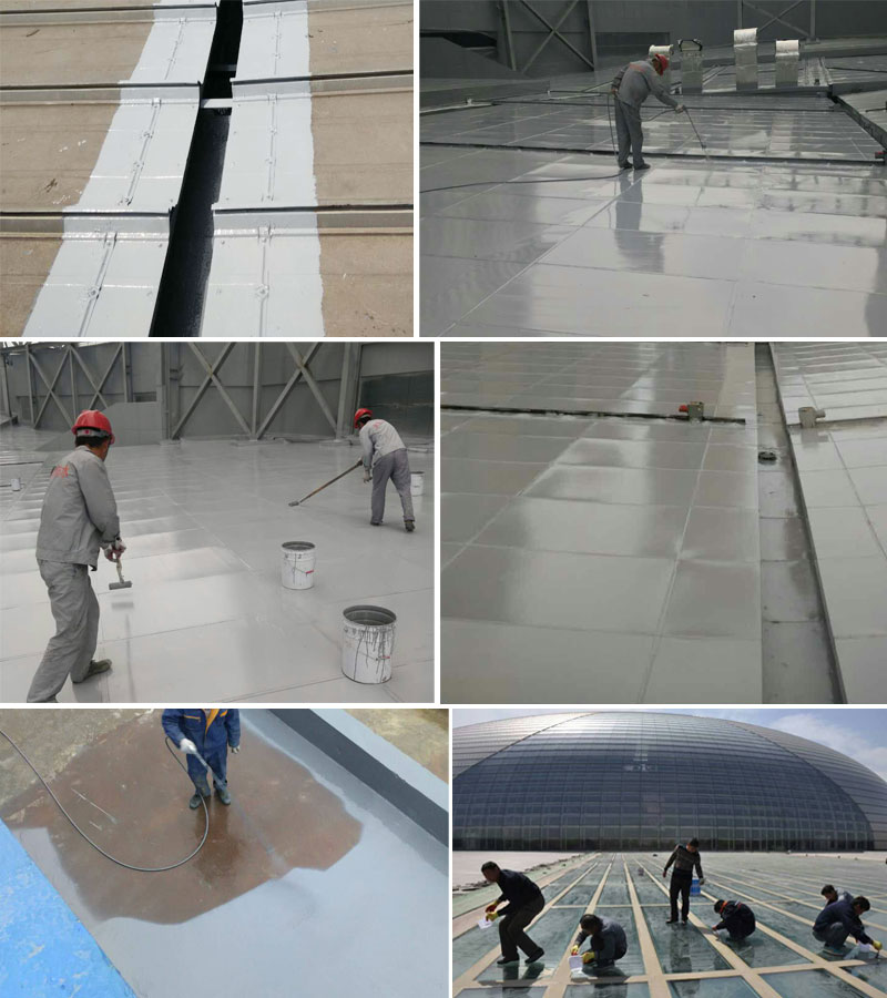 Concrete flat roof deck waterproofing coating