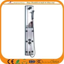 Painel de chuveiro de alumínio preto com jatos ajustáveis (YP-008)