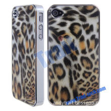 Fashionable Electroplating Leopard Hard Back Case for iPhone 4,4S