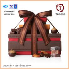 Caixa de presente de embalagem colorida de chocolate de design novo