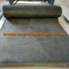 Tejido de carbono usado para agregar rigidez a la fibra de vidrio