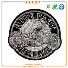 Ride Fast Live Hard Motocicleta Spider Webs Large Back Patch