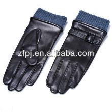 Meilleure vente mode homme moto gants en cuir véritable