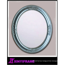 ornate oval silver mirror apartment bathroom wall vanity mirror