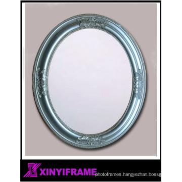 ornate oval silver mirror apartment bathroom wall vanity mirror
