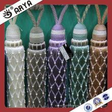 Exquisite Wildleder Quasten Perlen verkleidet Raffhalter für Vorhang
