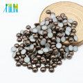 Haute qualité demi ronde lâche dos plat résine perle pour la fabrication de bijoux, café Z36-Dark