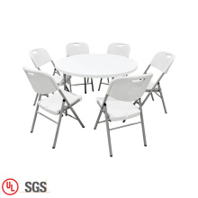 Outdoor Round Folding Out Portable Tables And Chairs