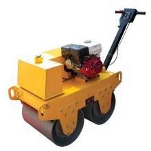 Máquina de rolo vibratório de tambor duplo de mão de asfalto