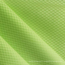 Oxford Diamond Grids Shiny Tissu en polyester PVC / PU