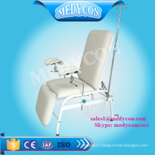 Manual adjustable hospital donation blood collection chair