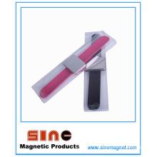 Rectángulo de moda pequeña pulsera de metal magnética