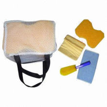 Car Care Kit with Cleaning Towel, Sponge and Brush