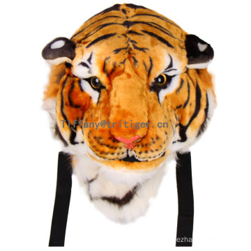 Patented design lovely 3D plush material tiger shaped backpack plush animal backpack wholesale