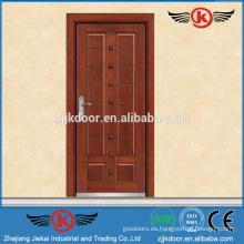 JK-A9001Turkey fuerte puerta de acero blindada de madera con bisagra