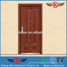 JK-A9001Turkey strong steel wooden armored door with hinge