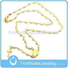 Вакуумной металлизации розария звезда цепи религиозных ожерелье с лазерной огранки вытравленный узор племенной Девы Марии крест кулон ювелирные изделия