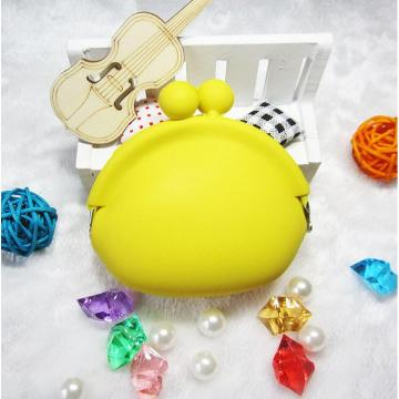 Yellow Small Bag Coin Purse Silicone Wallet