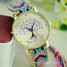 2015 nuevo reloj diy de la pulsera de las señoras del patrón del árbol