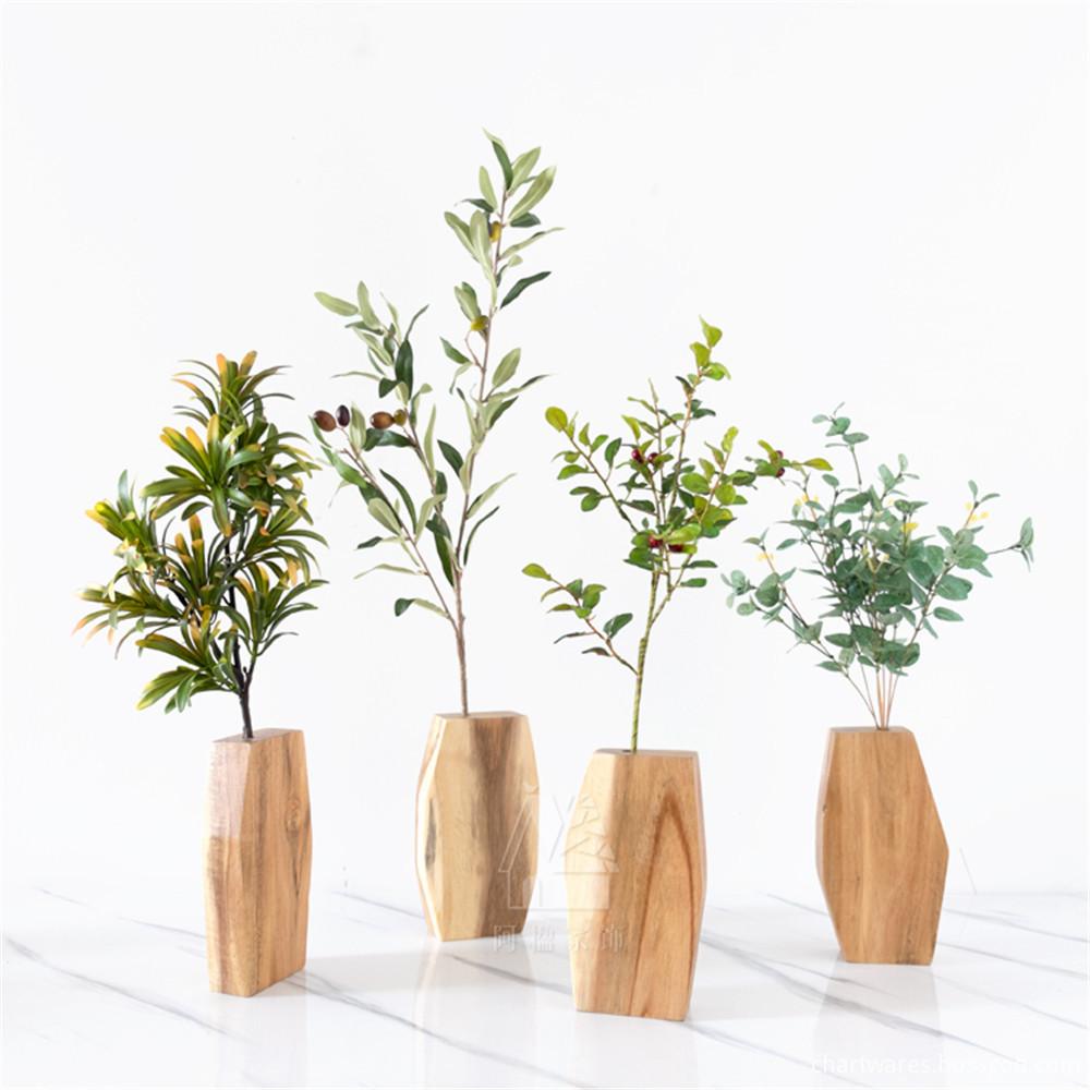 wooden vase decoration