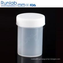 CE marcou recipientes de amostras universais PP 60ml com tampa de parafuso e sem etiqueta