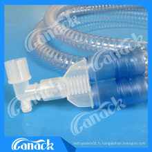 Circuit de respiration médical jetable de ventilateur de Smoothbore EVA