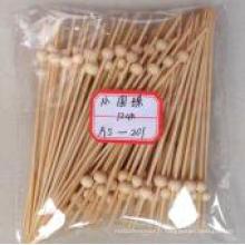Brochette / bambou en bambou naturel