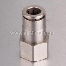 Straight Female Adaptor Nickel-Plated Brass Push-to-Connect Tube Fitting Straight Female Connector