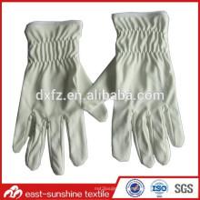 Benutzerdefinierte Logo gedruckt Mikrofaser Elektronik Schmuck weiße Handschuhe, Mikrofaser Handschuh Staubtücher, Reinigungshandschuhe