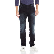 Jeans Herr, Slim Straight Fit Denim Moto Jean