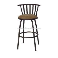 Металлический барный стул, табурет из ПВХ с подушкой