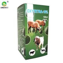 Injection de chlorhydrate d'oxytétracycline à 10% de médecine animale