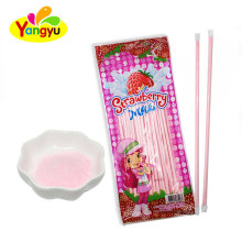 Halal Fruity Strawberry Flavors Sweet Powder Stick Candy