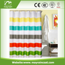 Embossed Pattern 3 Pass Polyester Shower Curtain