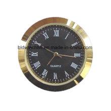 Reloj de inserto de metal pequeño plateado oro 27 mm