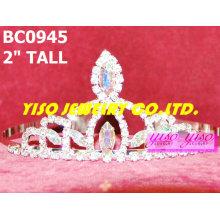 Coroas e tiaras de cristal simples adoráveis e mais vendidas